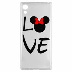 Чехол для Sony Xperia XA1 Love Mickey Mouse (female) - FatLine