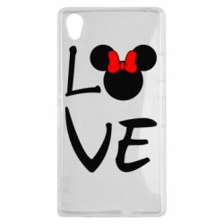 Чехол для Sony Xperia Z1 Love Mickey Mouse (female) - FatLine