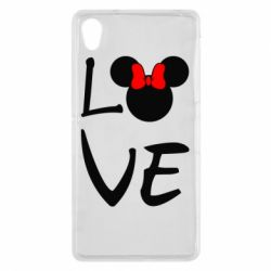 Чехол для Sony Xperia Z2 Love Mickey Mouse (female) - FatLine