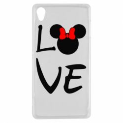 Чехол для Sony Xperia Z3 Love Mickey Mouse (female) - FatLine