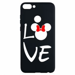 Чехол для Huawei P Smart Love Mickey Mouse (female) - FatLine