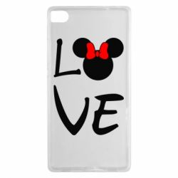 Чехол для Huawei P8 Love Mickey Mouse (female) - FatLine