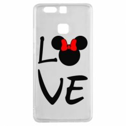 Чехол для Huawei P9 Love Mickey Mouse (female) - FatLine