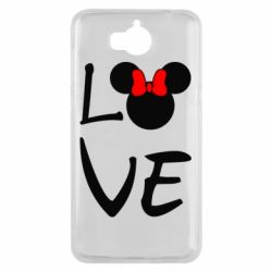 Чехол для Huawei Y5 2017 Love Mickey Mouse (female) - FatLine
