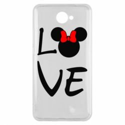 Чехол для Huawei Y7 2017 Love Mickey Mouse (female) - FatLine