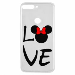 Чехол для Huawei Y7 Prime 2018 Love Mickey Mouse (female) - FatLine