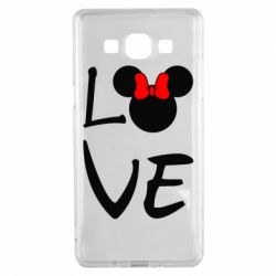 Чехол для Samsung A5 2015 Love Mickey Mouse (female) - FatLine
