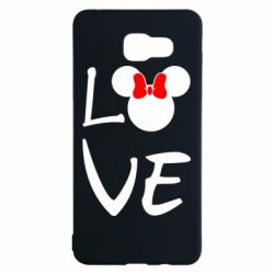 Чехол для Samsung A5 2016 Love Mickey Mouse (female) - FatLine