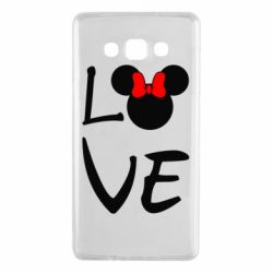 Чехол для Samsung A7 2015 Love Mickey Mouse (female) - FatLine