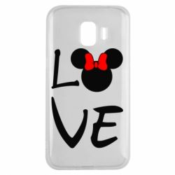 Чехол для Samsung J2 2018 Love Mickey Mouse (female) - FatLine