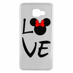 Чехол для Samsung A7 2016 Love Mickey Mouse (female) - FatLine