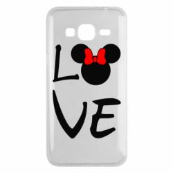 Чехол для Samsung J3 2016 Love Mickey Mouse (female) - FatLine