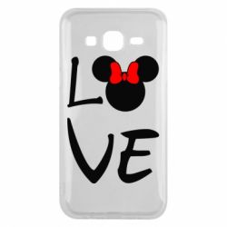 Чехол для Samsung J5 2015 Love Mickey Mouse (female) - FatLine