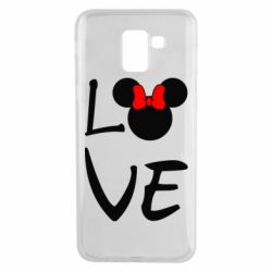 Чехол для Samsung J6 Love Mickey Mouse (female) - FatLine
