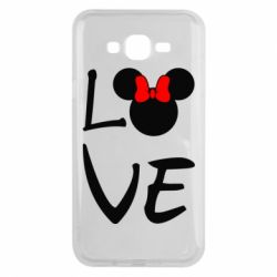 Чехол для Samsung J7 2015 Love Mickey Mouse (female) - FatLine