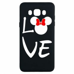 Чехол для Samsung J7 2016 Love Mickey Mouse (female) - FatLine