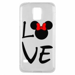 Чехол для Samsung S5 Love Mickey Mouse (female) - FatLine