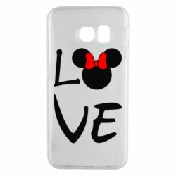 Чехол для Samsung S6 EDGE Love Mickey Mouse (female) - FatLine