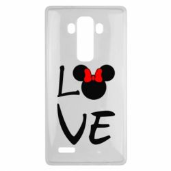 Чехол для LG G4 Love Mickey Mouse (female) - FatLine