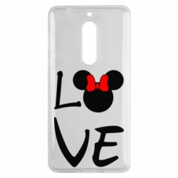 Чехол для Nokia 5 Love Mickey Mouse (female) - FatLine