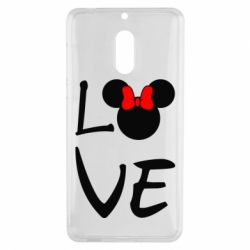 Чехол для Nokia 6 Love Mickey Mouse (female) - FatLine