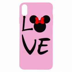 Чехол для iPhone Xs Max Love Mickey Mouse (female) - FatLine