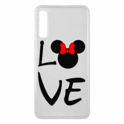 Чехол для Samsung A7 2018 Love Mickey Mouse (female) - FatLine