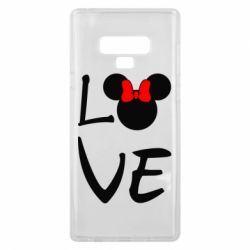 Чехол для Samsung Note 9 Love Mickey Mouse (female) - FatLine
