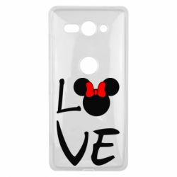 Чехол для Sony Xperia XZ2 Compact Love Mickey Mouse (female) - FatLine