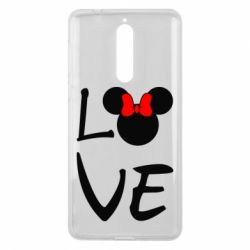 Чехол для Nokia 8 Love Mickey Mouse (female) - FatLine