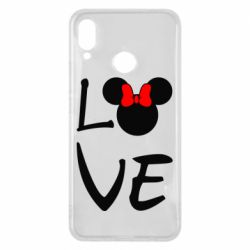 Чехол для Huawei P Smart Plus Love Mickey Mouse (female) - FatLine