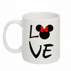 Кружка 320ml Love Mickey Mouse (female) - FatLine