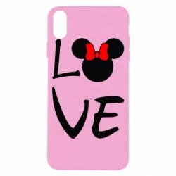 Чехол для iPhone X Love Mickey Mouse (female) - FatLine