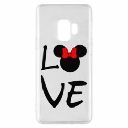 Чехол для Samsung S9 Love Mickey Mouse (female) - FatLine