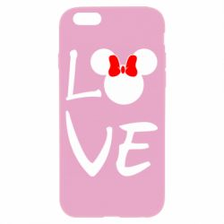Чехол для iPhone 6/6S Love Mickey Mouse (female) - FatLine