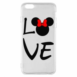 Чехол для iPhone 6 Plus/6S Plus Love Mickey Mouse (female) - FatLine