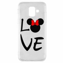 Чехол для Samsung A6 2018 Love Mickey Mouse (female) - FatLine