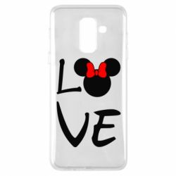 Чехол для Samsung A6+ 2018 Love Mickey Mouse (female) - FatLine