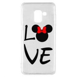 Чехол для Samsung A8 2018 Love Mickey Mouse (female) - FatLine