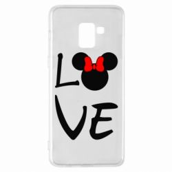 Чехол для Samsung A8+ 2018 Love Mickey Mouse (female) - FatLine