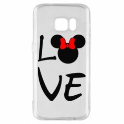 Чехол для Samsung S7 Love Mickey Mouse (female) - FatLine