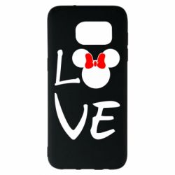 Чехол для Samsung S7 EDGE Love Mickey Mouse (female) - FatLine