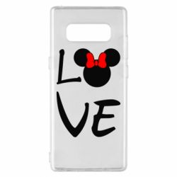 Чехол для Samsung Note 8 Love Mickey Mouse (female) - FatLine