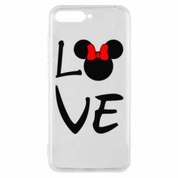 Чехол для Huawei Y6 2018 Love Mickey Mouse (female) - FatLine