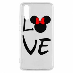 Чехол для Huawei P20 Love Mickey Mouse (female) - FatLine
