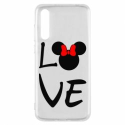 Чехол для Huawei P20 Pro Love Mickey Mouse (female) - FatLine