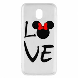 Чехол для Samsung J5 2017 Love Mickey Mouse (female) - FatLine