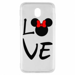 Чехол для Samsung J7 2017 Love Mickey Mouse (female) - FatLine