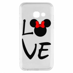 Чехол для Samsung A3 2017 Love Mickey Mouse (female) - FatLine