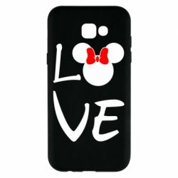 Чехол для Samsung A7 2017 Love Mickey Mouse (female) - FatLine
